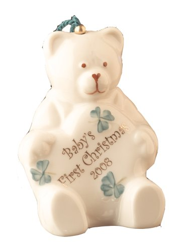Belleek Baby's First Christmas 2008 Ornament