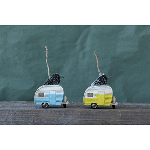 Camper Trailer Christmas Ornament Set of 2 – 3-1/2-in