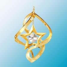 24K Gold Plated Star Classic Spiral – Swarovski Crystal