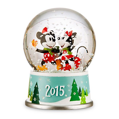 Disney's Mickey and Minnie Mouse Holiday Snowglobe – 2015 Edition