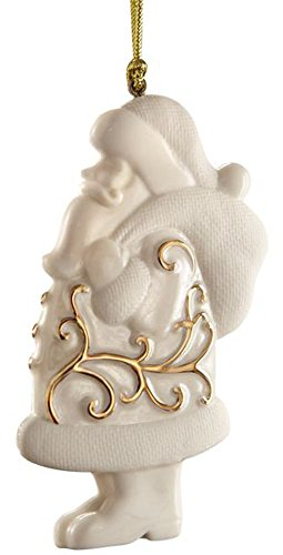 Lenox Santa Scroll Ornament, Gold