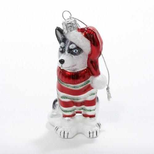 Kurt Adler Noble Gems Husky Glass Christmas Ornament