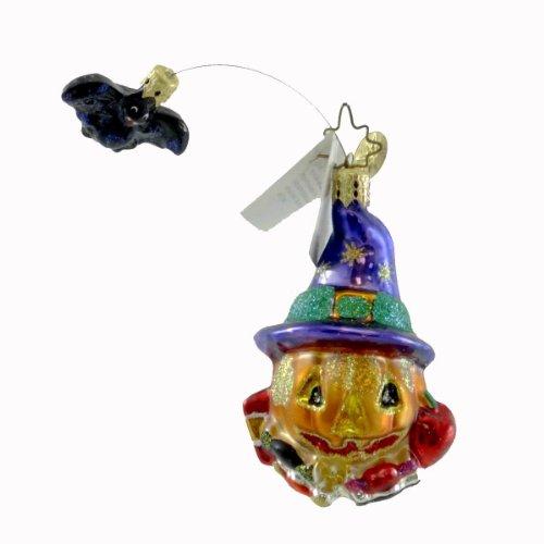 Christopher Radko BATTY JACK GEM Blown Glass Ornament Halloween Bat Pumpkin
