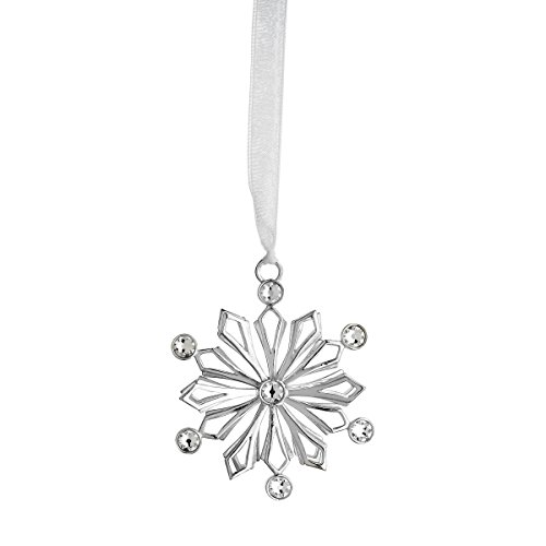 Reed & Barton LO121 Lunt Snow Crystal Frost Snowflake Ornament