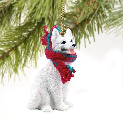 Conversation Concepts German Shepherd White Original Ornament (Set of 3)