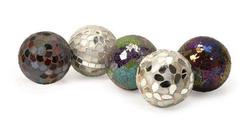 Imax Abbot Mosaic Deco Balls, Set of 5