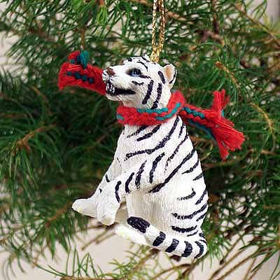Conversation Concepts Tiger White Original Ornament