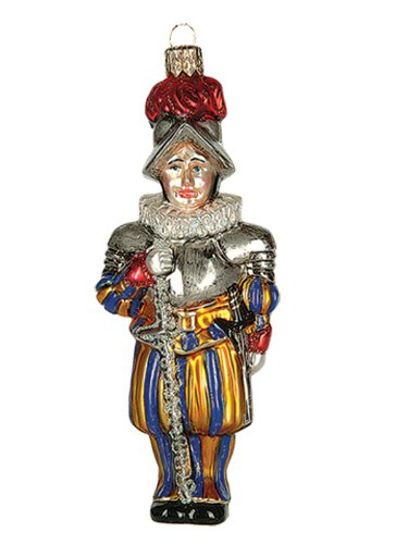 Swiss Vatican Guard Polish Mouth Blown Glass Christmas Ornament