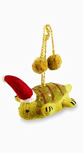 Mud Pie Christmas Collection Felt Sea Ornament, Choice of Style (Turtle)