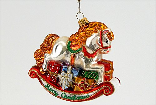 Rocking Horse Blown Glass Ornament