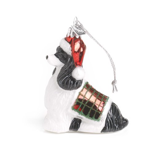 Kurt Adler Noble Gems Cocker Spaniel Christmas Ornament Black/White