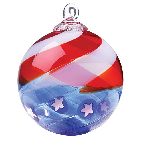 Glass Eye Studio Ornament, Star Spangled, Limited Edition