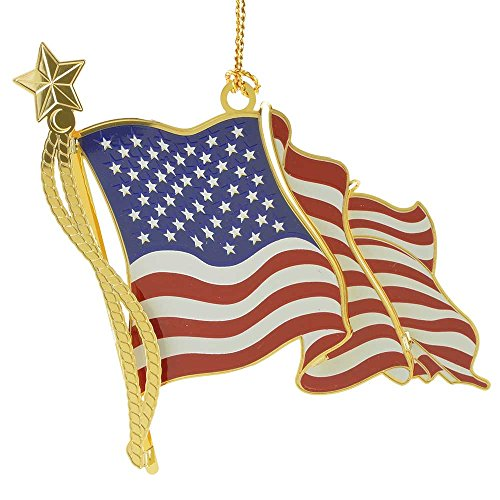 ChemArt American Flag Ornament