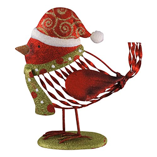 Cozy Cardinal Whimsical Bird Christmas Standing Tabletop Decoration (Red)