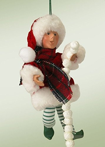 "6.5″ Kindles ""Pops"" Poseable Elf Figure Christmas Tree Ornament"