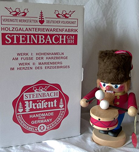 Steinbach Gm Bh Christmas Decorations ,Gifts and Ornaments Handmade in Germany Wooden 10″ Troll Drummer BOY Nutcracker