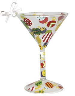 Lolita Martini Glass Christmas Ornament Ornament-tini