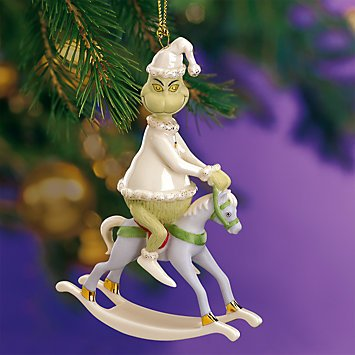 "Lenox China Grinch Rides a Rocking Horse ~ ""A Rockin' Grinch Christmas Ornament"""