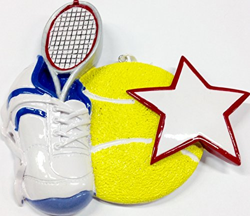 Tennis Star Personalized Ornament
