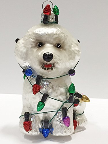 Ornaments to Remember: BICHON FRISHE PUPPY (Christmas Lights) Christmas Ornament