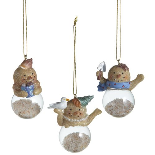 Midwest Sand Snowman Dome Ornaments Set of 3 268612