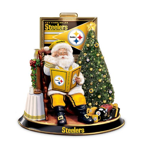 NFL Pittsburgh Steelers Talking Santa Claus Tabletop Centerpiece by The Bradford Exchange
