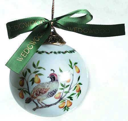 Wedgwood 12 Days of Christmas Ornament – Partridge in a Pear Tree – First in Series