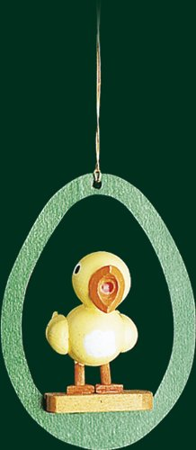 Hanging Christmas Tree Ornament Chicken, 3.4 Inches