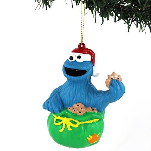 Sesame Street Kurt Adler Blow Mold Ornament Gift Boxed (Cookie Monster Bag)