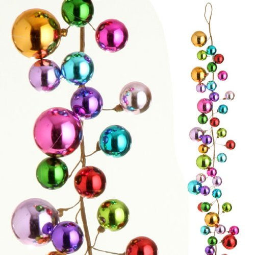 RAZ Imports – 4′ Christmas Ball Garland