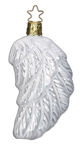Angel's Wing, porcelain white pearl, #1-285-15, from the 2015 History Affair Collection by Inge-Glas Manufaktur; Gift Box Included