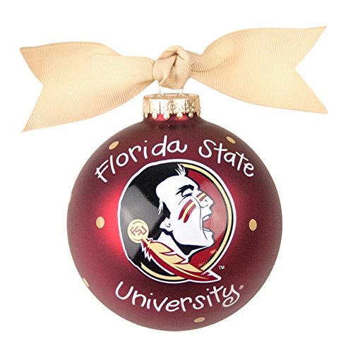 FSU Logo 2 Glass Ornament