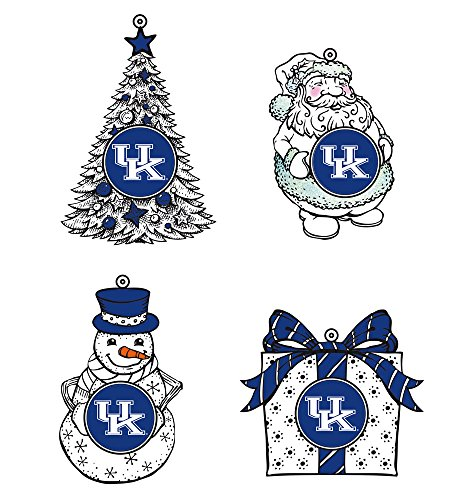 LED Holiday Orn 4 Assort, 3in, University of Kentucky