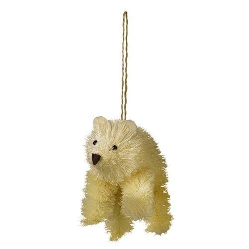 Grasslands Road Bottle Brush Animal Ornament, Choice of Styles (polar bear)