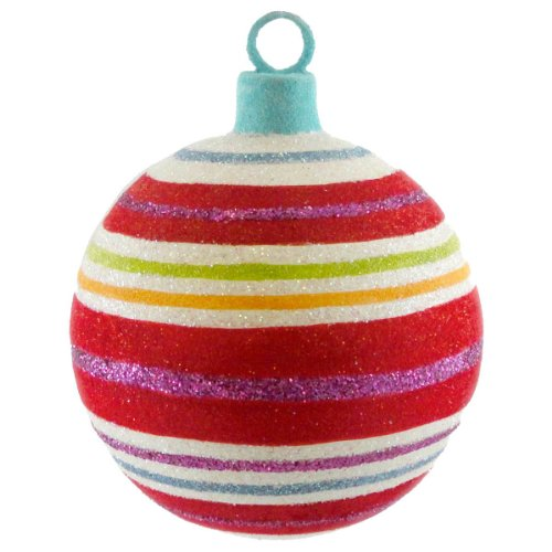Holiday Ornament SWEET BALL ORNAMENT GJ0090 STRIPES Glitterville Christmas New