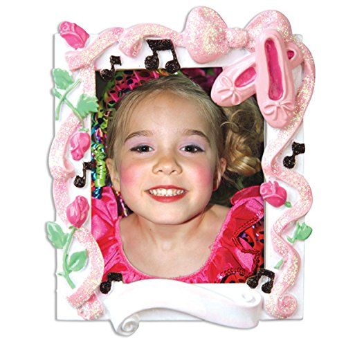 Dance Recital Picture Frame Personalized Christmas Tree Ornament