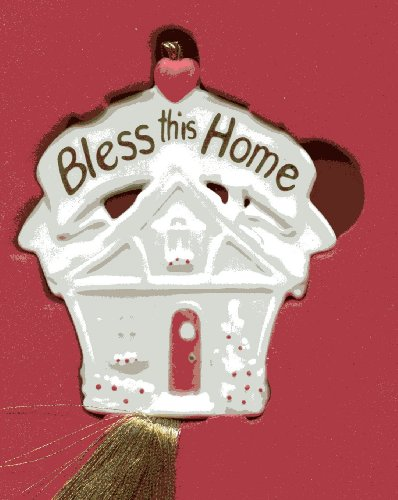 Lenox Porcelain Bless this Home Christmas Tree Ornament