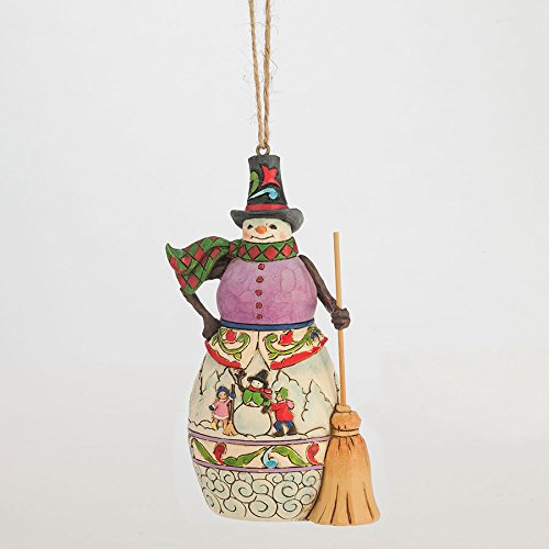 Enesco Jim Shore Winter Scene Snowman Ornament