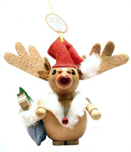 Steinbach Santa Rudolph Reindeer Wood Christmas Ornament