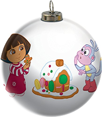 2015 Dora The Explorer Light Up Ball Carlton Ornament