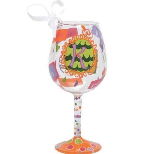 Santa Barbara Design Studio Lolita Holiday Mini-Wine Ornament, Letter K
