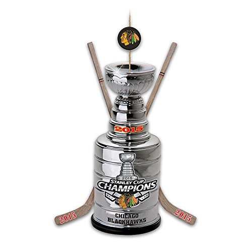 NHL Licensed Chicago Blackhawks 2015 Stanley Cup Champions Christmas Ornament by The Bradford Exchange