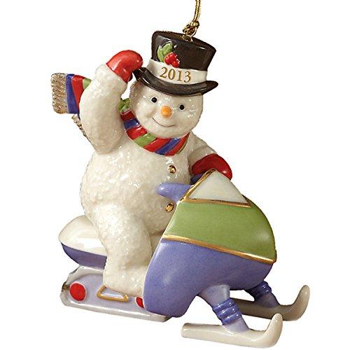 "Lenox ""2013 Snowmobling Snowman"" Ornament"