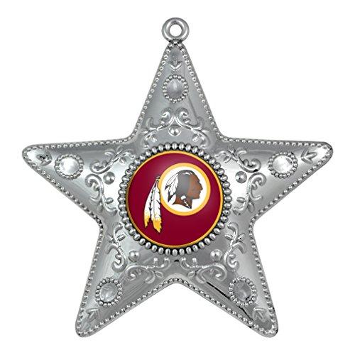 Washington Redskins – NFL Official 4.5″ Silver Star Ornament