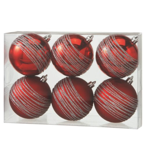 Medium Red Ball Ornament Set of 6