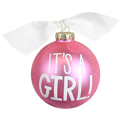 Our It's a Girl Large Dot Glass Ornament