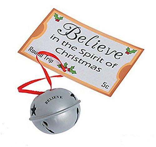 Believe Jingle Bell Ornament W/ticket (1 Piece)