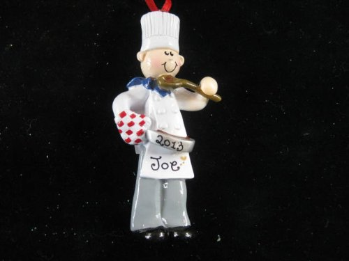 Chef Boy Personalized Christmas Ornament – Free Personalizing