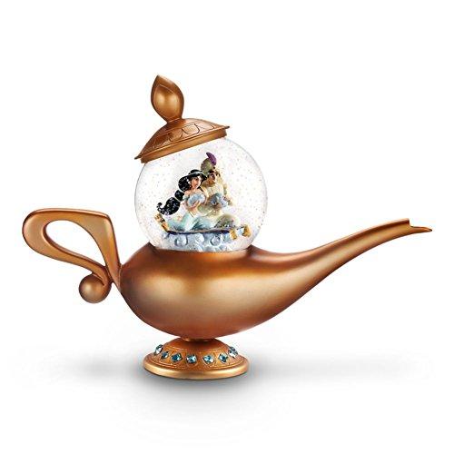 Disney Exclusive Aladdin Genie Lamp Art of Jasmine Snowglobe Limited Edition