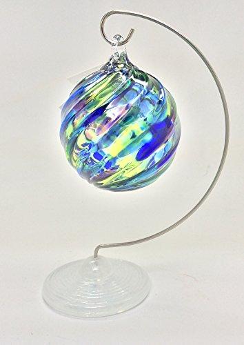 Glass Eye Studio Opal White Glass Base Single 7″ Ornament Stand